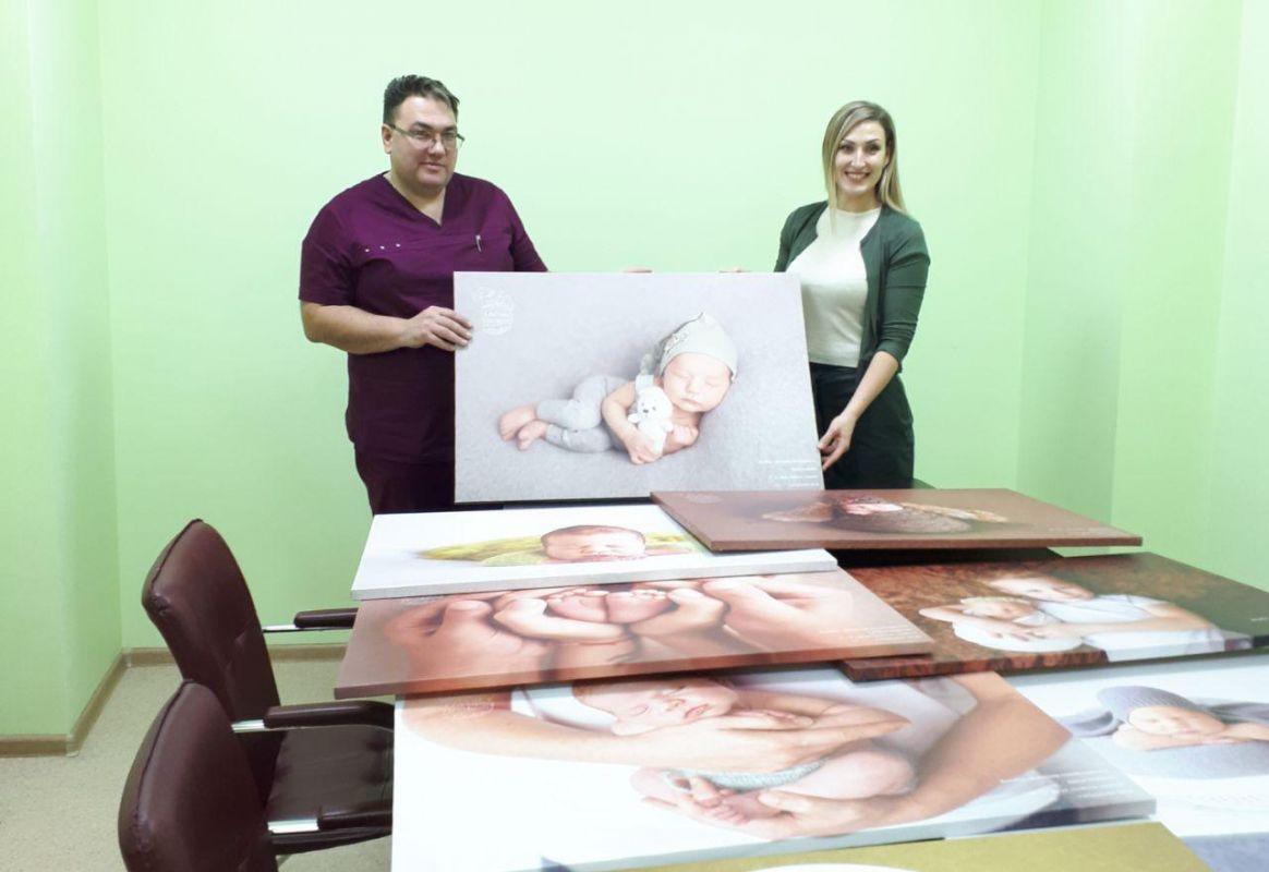 Открытие фото-галереи новорожденных в МЦ